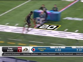 Watch: Tony Brown runs unofficial 4.66 second 40-yard dash at 2020 combine