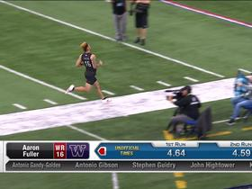 Watch: Aaron Fuller runs official 4.59 second 40-yard dash at 2020 combine