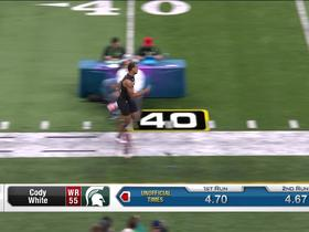 Watch: Cody White runs official 4.66 second 40-yard dash at 2020 combine