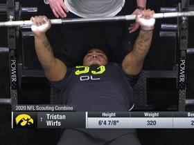 Watch: Tristan Wirfs puts up 24 reps on the bench press at 2020 combine