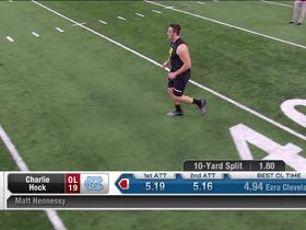 Watch: Charlie Heck runs unofficial 5.16 second 40-yard dash at 2020 combine