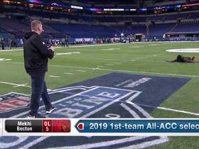 Watch: Mekhi Becton shows his change of direction in drill at 2020 combine