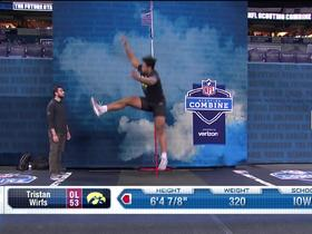 Watch: Tristan Wirfs gets UP on unofficial 36.5