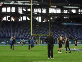 Watch: Rodrigo Blankenship nails 55-yard field goal in combine drills