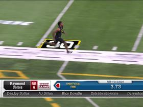 Watch: Raymond Calais runs unofficial 4.42 second 40-yard dash at 2020 combine