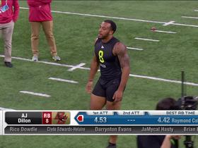 Watch: AJ Dillon runs unofficial 4.53 second 40-yard dash at 2020 combine