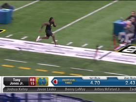 Watch: Tony Jones Jr. runs unofficial 4.69 second 40-yard dash at 2020 combine