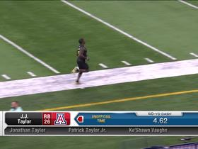 Watch: J.J. Taylor runs unofficial 4.62 second 40-yard dash at 2020 combine