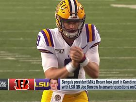 Watch: Rapoport: Bengals owner was in combine meeting with Joe Burrow