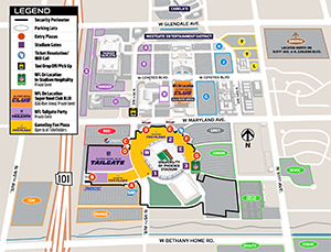University Of Phoenix Stadium Parking Map