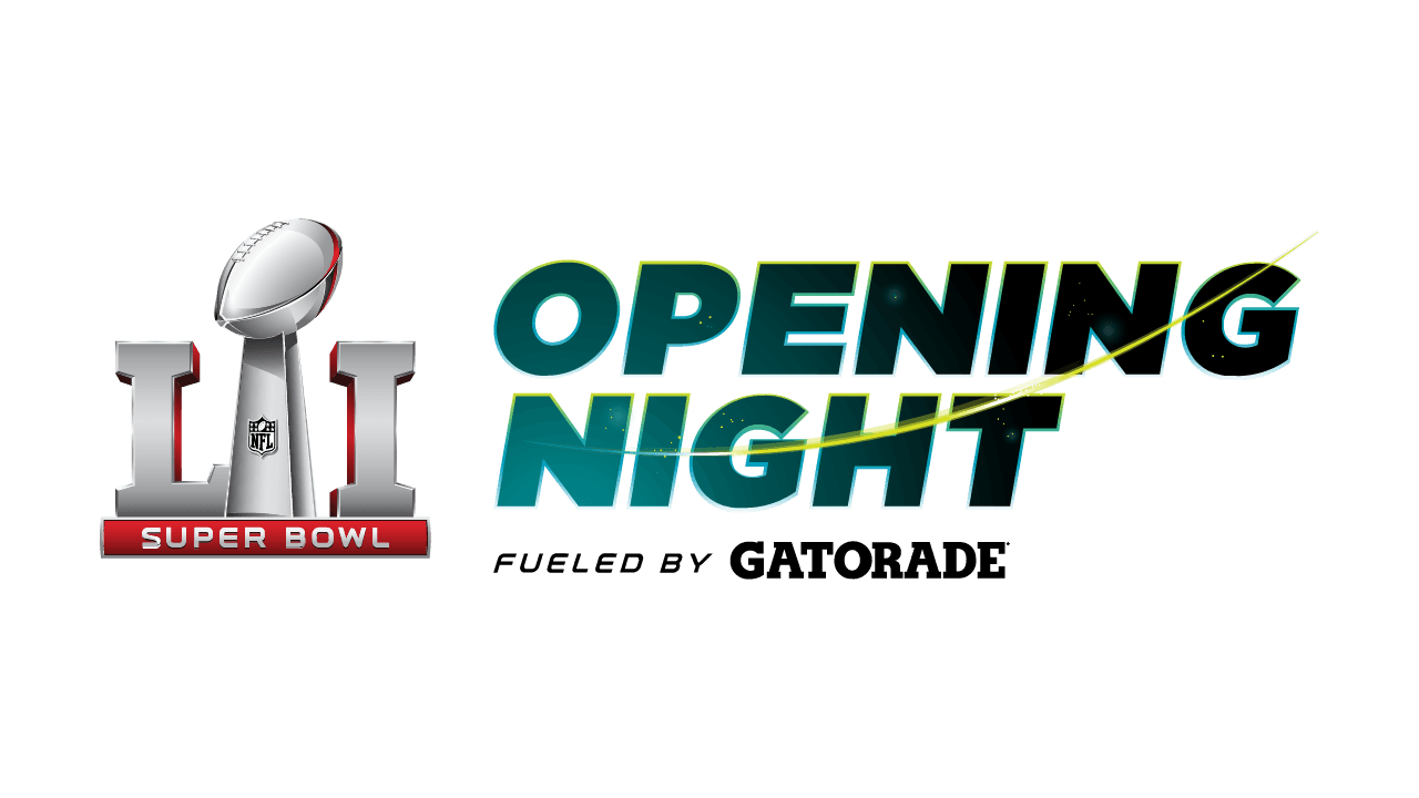 Super Bowl Opening Night Fueled by Gatorade Logo