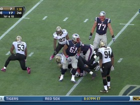 Saints defense, sack, 7-yd loss