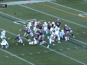 Patriots block Dolphins field goal