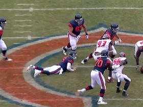 Cutler sacked by Gerald McCoy, fumbles