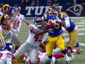 Cunningham fumbles on kickoff, recovered by Giants