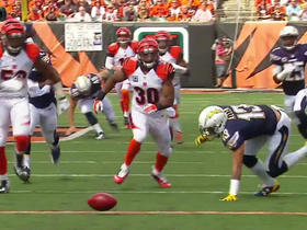 Bengals recover muffed punt