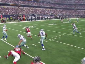 Cowboys Brandon Weeden intercepted by Falcons William Moore