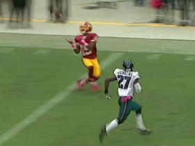 Redskins Kirk Cousins hits wide open Rashad Ross for 43 yards