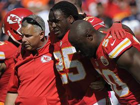 Chiefs Jamaal Charles out with a knee injury