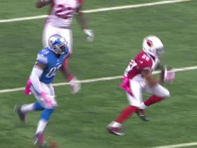 Cardinals Rashad Johnson intercepts Lions Matthew Stafford