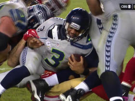 49ers sack Russell Wilson