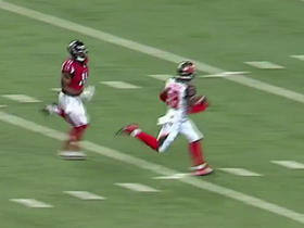 Julio Jones chases down defender after interception
