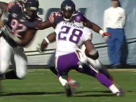 Adrian Peterson rushes for 12 yards