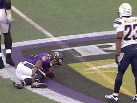 Ravens Steve Smith is injured against the Chargers
