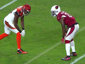 A.J. Green gets the best of Patrick Peterson for 11 yards