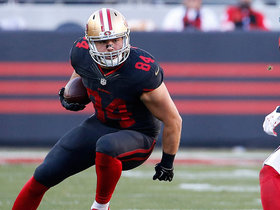 49ers Blake Bell makes long gain of 48 yards
