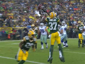 Packers Sam Shields picks off Cowboys Matt Cassel in the end zone
