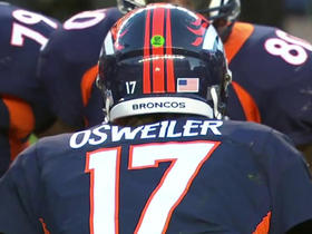 Broncos Brock Osweiler knocks down tipped pass
