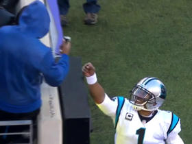Cam Newton's football finds a fan