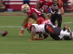Jeremy Hill loses fumble
