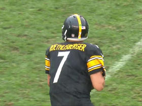 Roethlisberger shows his mobility with a 14-yard run