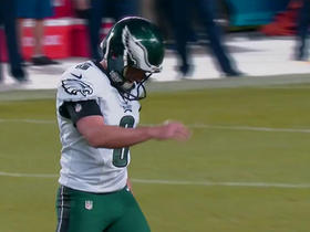 Caleb Sturgis limping after extra point attempt