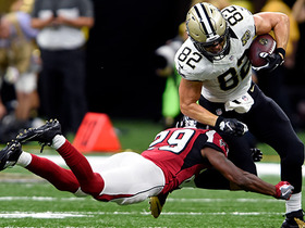 Brees completes pass to Coby Fleener for 24 yards