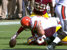 Malcolm Johnson fumble recovered by Quinton Dunbar
