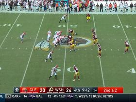 Redskins recover Duke Johnson fumble