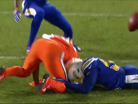 Demaryius Thomas fumbles after catch