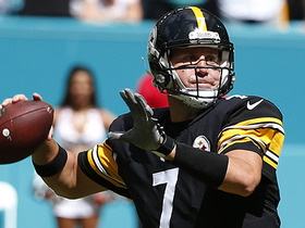 Roethlisberger throws into triple coverage, gets picked