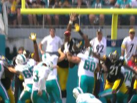 Steelers block Dolphins field goal attempt