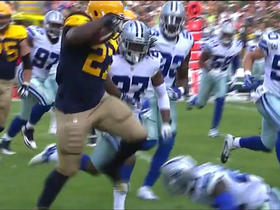 Eddie Lacy rushes for 10 yards and hurdles defender again