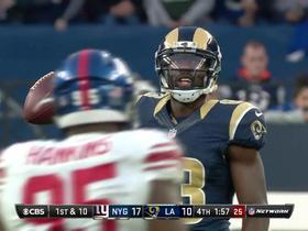 Case Keenum hits Brian Quick for 15 yards on fourth down