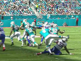Bills block Dolphins punt to gain field position