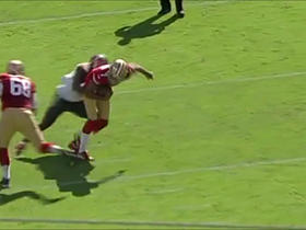 Kaepernick sacked by Gholston for 8-yard loss