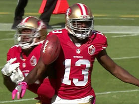Kerley gets bumped and 49ers muff punt