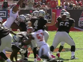 Spence forces a Carr fumble, Jones recovers