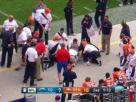 Wade Phillips carted off after sideline collision with player