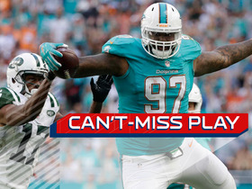 Can't-Miss Play: 335 lb. Phillips grabs INT, hurdles Jets WR